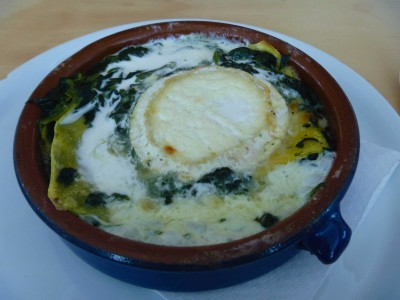 Spinach and goats cheese lasagne, so good