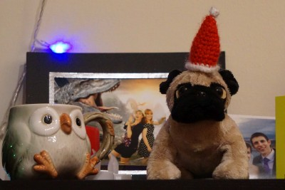 Even puggle got into the xmas spirit