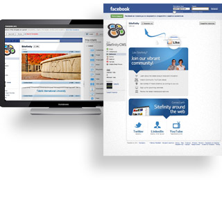 Sitefinity manage your facebook page