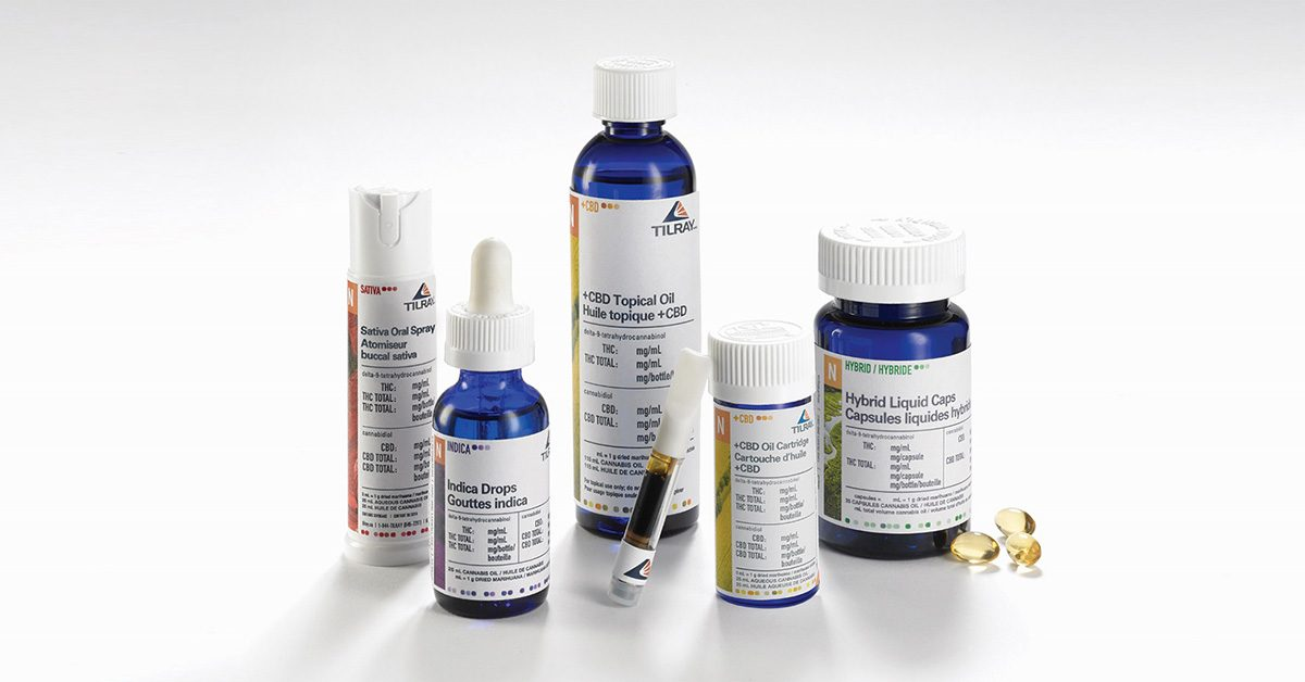 Clinical cannabis based product offerings by Tilray