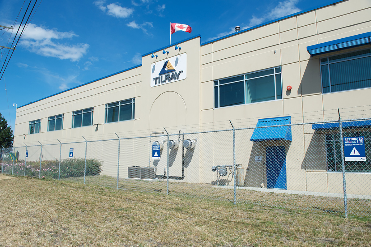 Cannabis Based Tilray facility in Canada