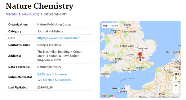 PubChem - Nature Chemistry