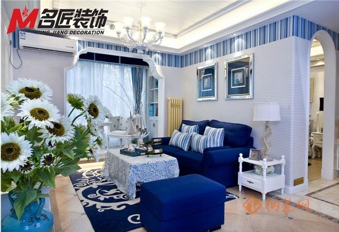 达州名匠装饰精心打造蓝润十年城·地中海风格