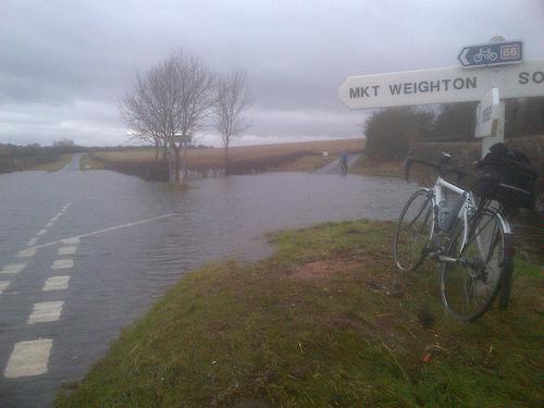 Kiplincotes Valley flood
