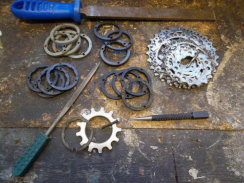 Shimano cassettes and spacers