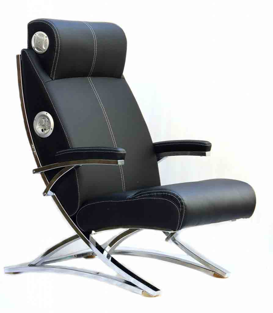 X-Rocker 5129301 2.0 Wired Bonded Leather Video Gaming Chair, Black