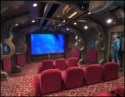 Movie themed bedrooms - home theater design ideas - Hollywood style