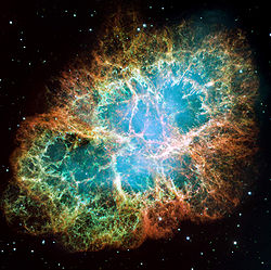 Crab nebula from NASA/ESA.  Created for NASA by SCScl under contract NAS5-26555