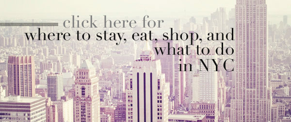 {take me away № 34 | city guide № 4 : new york city}