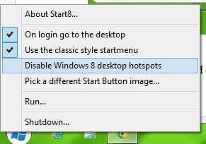 windows 8 classic start menu