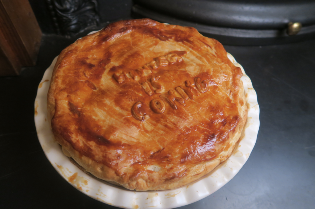 Beef and bacon pie