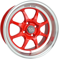 SSW TUNING 15X7.5 4X114.3 RED POLISH LIP WHEEL & TYRE PACKAGE