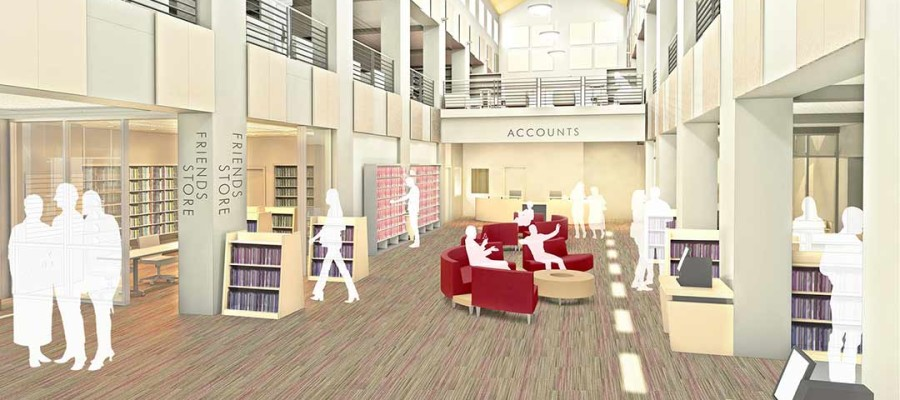 Upgrades on pair of Carlsbad libraries continues