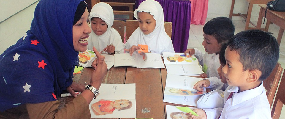 USAID distributed 13,000 leveled reading books to improve students reading skills and interest in reading.
