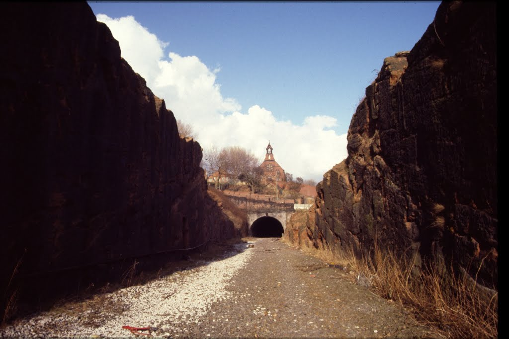 Cheshire Lines Railway cutting (March 1985)