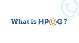 What is HPOG? animated infographic title screen