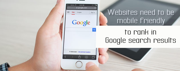 Websites need to be mobile friendly