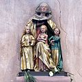 Gothic statue of St Sophia and her daughters