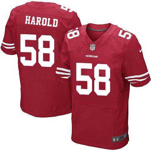 Men's Mike Person Red Home Elite Football Jersey: San Francisco 49ers #68 Vapor Untouchable  Jersey