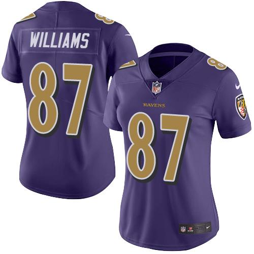 Women's Marquise Brown Purple Backer Football : Baltimore Ravens #15 Pullover Hoodie