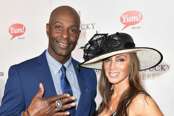 Jerry Rice and Colleen Murray attend the 143rd Kentucky Derby at Churchill Downs on May 6, 2017 in Louisville, Kentucky.