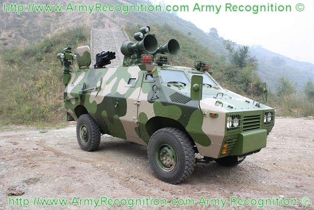 ZFB05G Broadcasting wheeled armoured vehicle technical data sheet information description intelligence pictures photos images China Chinese army identification Shaanxi Baoji Special Vehicles Manufacturing