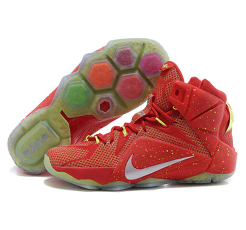 NIKE Lebron James 12 Shoes red white