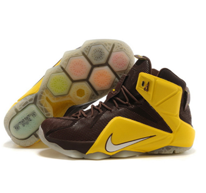 NIKE Lebron James 12 Shoes yellow