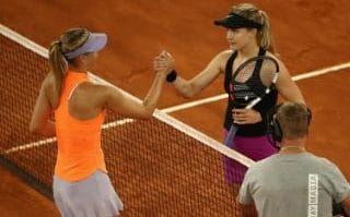 Eugenie Bouchard defeated Maria Sharapova in almost three hours on Monday night