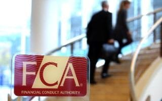 The old logo inside the FCA's current headquarters in Canary Wharf