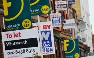 House prices were 0.2pc lower in the three months to April than in the preceding three months