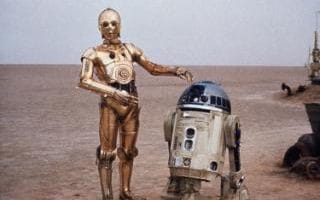 C-3PO and R2-D2 from Star Wars