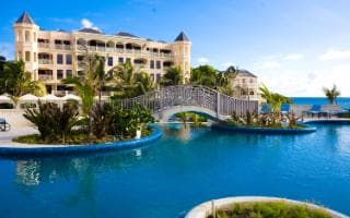 Pool and exterior of the Crane Resort, Barbados - the Caribbean's oldest hotel