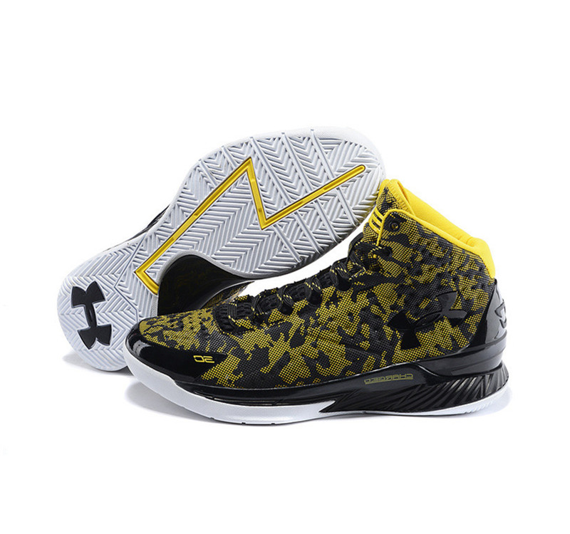 Under Armour Stephen Curry 1 Shoes yellow white black