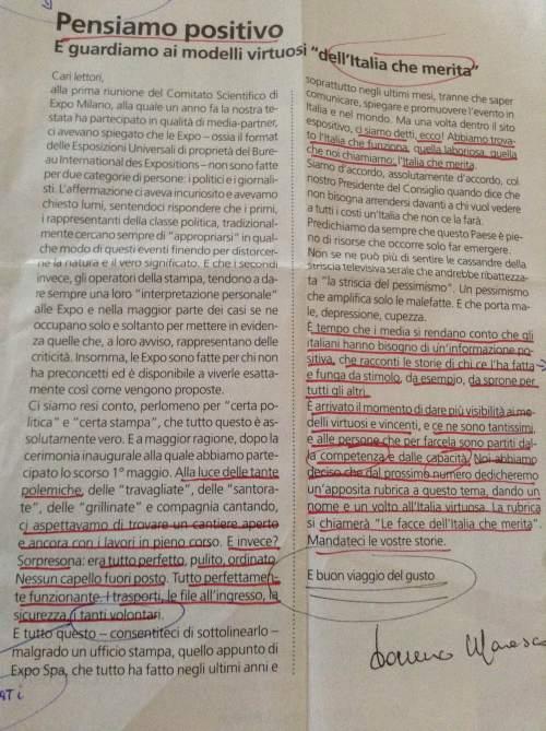il magnifico editoriale di Italo