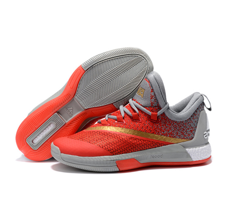 Adidas James Harden Crazylight Boost 2.5PE Shoes red gray gold