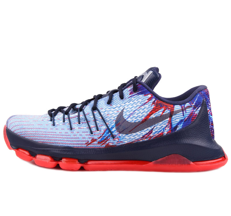 Nike KD 8 USA Keivn Durant Shoes Blue Red
