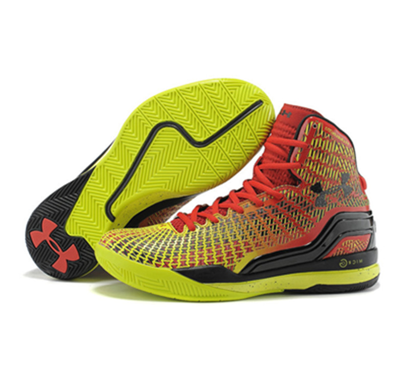 Under Armour Stephen Curry 1 Shoes 2015 red yellow