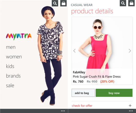 Official Myntra app for Windows Phone 8