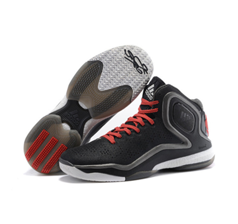 Adidas D ROSE 5 BOOST Black White