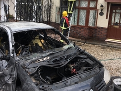 Fire crews tackle car and house fire