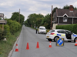 Cyclist killed in crash with van at Four Ashes