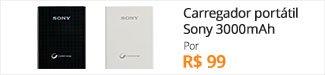 Carregador portátil Sony 3000mAh