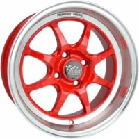 SSW TUNING 15X7.5 4X100 RED POLISH LIP WHEEL & TYRE PACKAGE