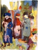 George Grosz, pintor alemán, 1893-1959.