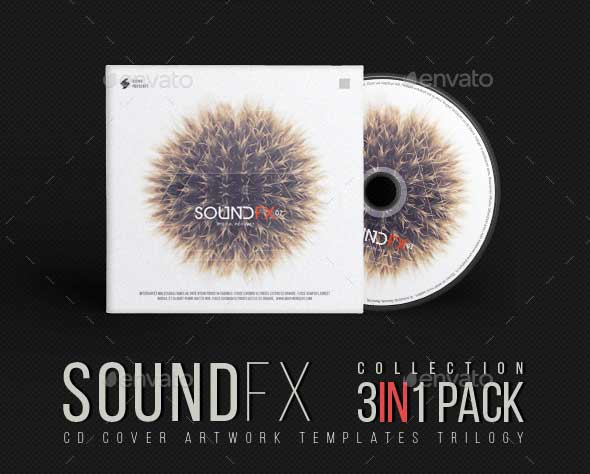 cd cover templates psd bundle