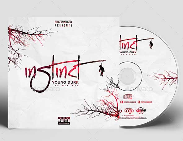 urban music album mixtape cd cover template