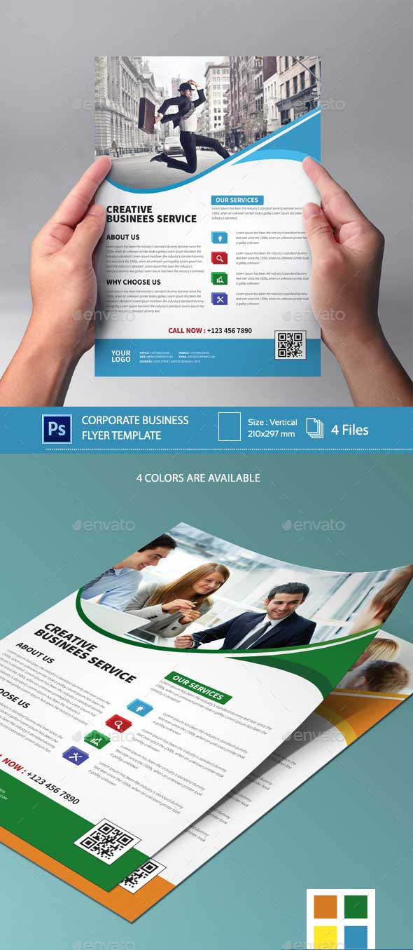 Photoshop PSD Business Flyer Template
