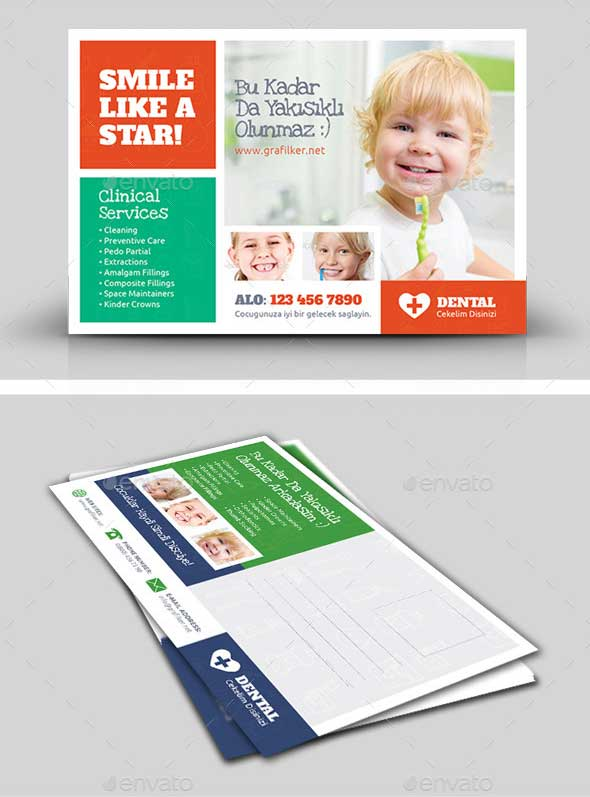 kids-dental-postcard-templates