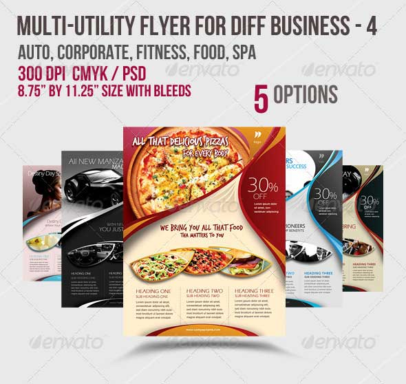 Multi-utility Flyer For Different Business